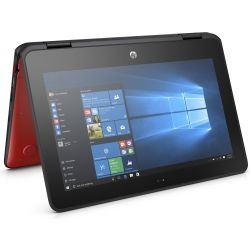 HP ProBook x360 11 G1 11.6 inch HD-LED 2-in-1 Laptop Celeron N3350 4GB RAM 64GB SSD Win10 Pro 64bit 1yr Wty Red