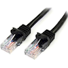 StarTech Cat5 Network Cables - StarTech 0.5m Black Snagless Cat5e | ITSpot Computer Components