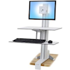 Ergotron TV Mounting - Ergotron WorkFit-S Single LD | ITSpot Computer Components