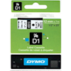 Dymo POS Consumables - Dymo Tape D1 12MMX7M BLK/WHT | ITSpot Computer Components