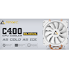 Graphics Card Accessories - Antec C400 GLACIAL White Air CPU | ITSpot Computer Components