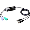 Aten KVM Switches - Aten 2 Port USB Boundless Cable KM | ITSpot Computer Components