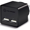 Home & Wall Chargers - ALOGIC 2 Port USB Mini Wall Charger | ITSpot Computer Components