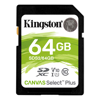Kingston SD / SDHC Cards - Kingston 64GB Canvas Select Plus SD | ITSpot Computer Components
