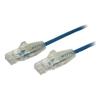 StarTech Cat6 Network Cables - StarTech Cable Blue Slim Cat6 Patch | ITSpot Computer Components
