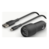 Phone & Tablet Car Chargers - Belkin 2 PORT CAR CHARGER 12W/2.4A | ITSpot Computer Components