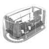 Orico 2.5 Portable External Hard Drive Enclosures - Orico 6139U3-CR 2.5/3.5 inch USB3.0 | ITSpot Computer Components