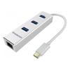 Simplecom USB Hubs - Simplecom CHN411 Silver Aluminium   ITSpot Computer Components